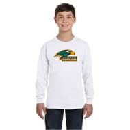NPS Gildan Youth Heavy Cotton Long-Sleeve T-Shirt - White (NPS-301-WH)