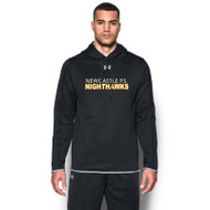NPS Under Armour Men's Double Threat Fleece Hoodie - Black (NPS-103-BK)
