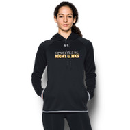 NPS Under Armour Ladies Double Threat Fleece Hoodie - Black (NPS-203-BK)