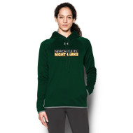 NPS Under Armour Ladies Double Threat Fleece Hoodie - Forest (NPS-203-FO)