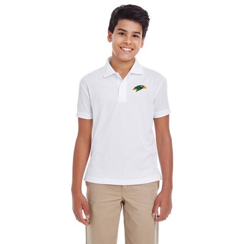 NPS Core 365 Youth Polo - White (NPS-307-WH