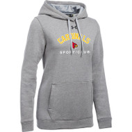 LKC Under Armour Women's Hustle Fleece Hoodie - Grey (LKC-200-GY)