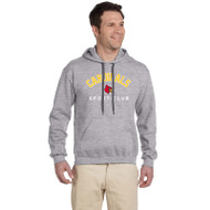 LKC Gildan Men's Premium Cotton Fleece Hooded Sweatshirt - Grey ( LKC-101-GY)