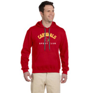 LKC Gildan Men's Premium Cotton Fleece Hooded Sweatshirt - Red (LKC-101-RE)