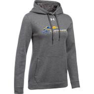 SMK Under Armour Women's Hustle Fleece Hoodie - Carbon ( SMK-205-CR)