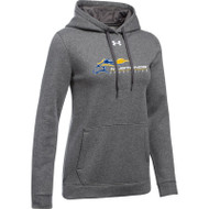 SMK Under Armour Women's Hustle Fleece Hoodie - Carbon ( SMK-205-CB)