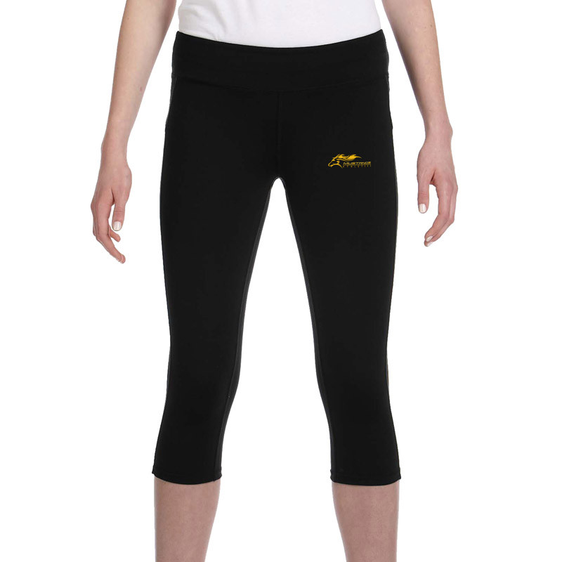 7a8ee1a08a7b1 SMK All Sport Ladies' Capri Legging - Black - SchoolWear.ca