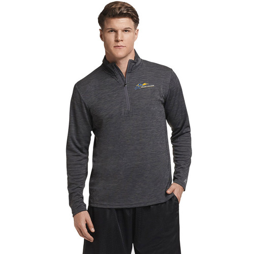 SMK Russell Men's Performance ¼ Zip - Stealth (SMK-107-ST)