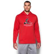HCP Under Armour Men's Double Threat Fleece Hoody (Staff) - Red (HCP-111-RE)