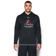 HCP Under Armour Men's Double Threat Fleece Hoody (Staff) - Black (HCP-111-BK)