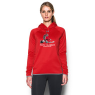 HCP Under Armour Women's Double Threat Fleece Hoody (Staff) - Red (HCP-211-RE)
