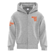 BEA ATC Youth Everyday Fleece Full Zip Hooded Sweatshirt - Athletic Heather