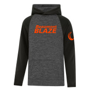 BEA ATC Youth Dynamic Heather Fleece Two Tone Hooded Sweatshirt - Charcoal Dynamic