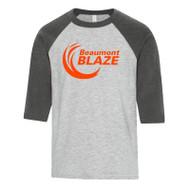 BEA ATC Youth Baseball T-Shirt - Athletic Grey (BEA-050-AG)