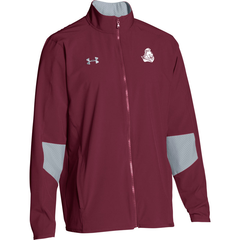 815b9f5106 BCI Men's Under Armour Squad Woven Warm-Up Jacket - Maroon