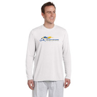 SMK Gildan Men's Performance Long Sleeve T Shirt - White ( SMK-102-WH)