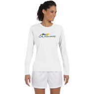 SMK Gildan Women's Performance Long Sleeve T Shirt - White ( SMK-202-WH)