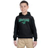 AJM Gildan Youth Pullover Hooded Sweatshirt - Black