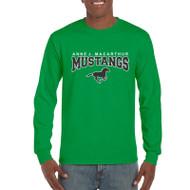 AJM Gildan Men's Long Sleeve T-Shirt - Irish Green