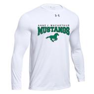 AJM Under Armour Youth Long Sleeve Locker T-Shirt 2.0 - White