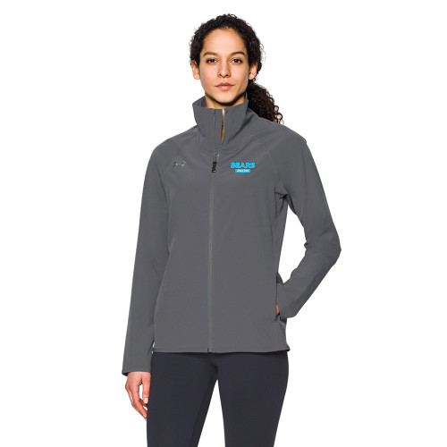 BHS Under Armour Women's Squad Woven Warm-Up Jacket - Graphite (BHS-201-GH)