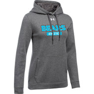 BHS Under Armour Women's Hustle Fleece Hoodie - Carbon (BHS-203-CB)