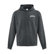 SJB Everyday Fleece Full Zip Hooded Adult Sweatshirt - Dark Heather (SJB-003-DH)