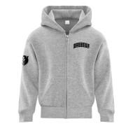 SJB ATC Everyday Fleece Full Zip Hooded Youth Sweatshirt - Athletic Heather (SJB-304-AH)