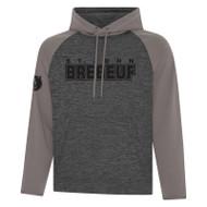 SJB ATC Dynamic Heather Adult Fleece Two Tone Hooded Sweatshirt - Charcoal Dynamic/Coal Grey