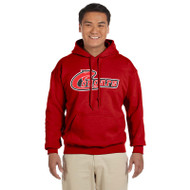 KHS Gildan Men's 13.3 oz. Heavy Blend, 50/50 Hood - Red (KHS-101-RE)