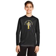 SMH Team 365 Youth Zone Performance LS T-Shirt with CS Logo - Black (SMH-309-BK)