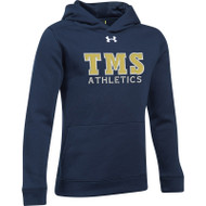 TMS Under Armour Youth Hustle Hoodie - Navy (TMS-305-NY)