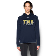 TMS Under Armour Women's Double Threat Hoodie - Navy (TMS-214.1295300-410)