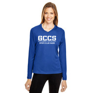 GCC Team 365 Adult Zone Performance Long-Sleeve T-Shirt - Sport Royal (GCC-010-SR)