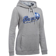 BSS Under Armour Women's Hustle Fleece Hoody - True Grey Heather (BSS-202-TG)