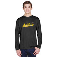 SMH Team 365 Adult Zone Performance LS Tee with Stingers Logo - Black (SMH-010-BK)
