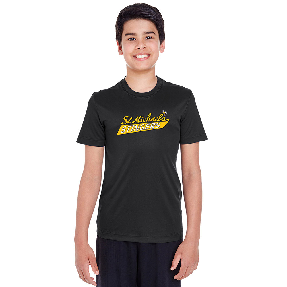2980963902fc SMH Team 365 Youth Zone Performance SS Tee with Stingers Logo - Black (SMH-