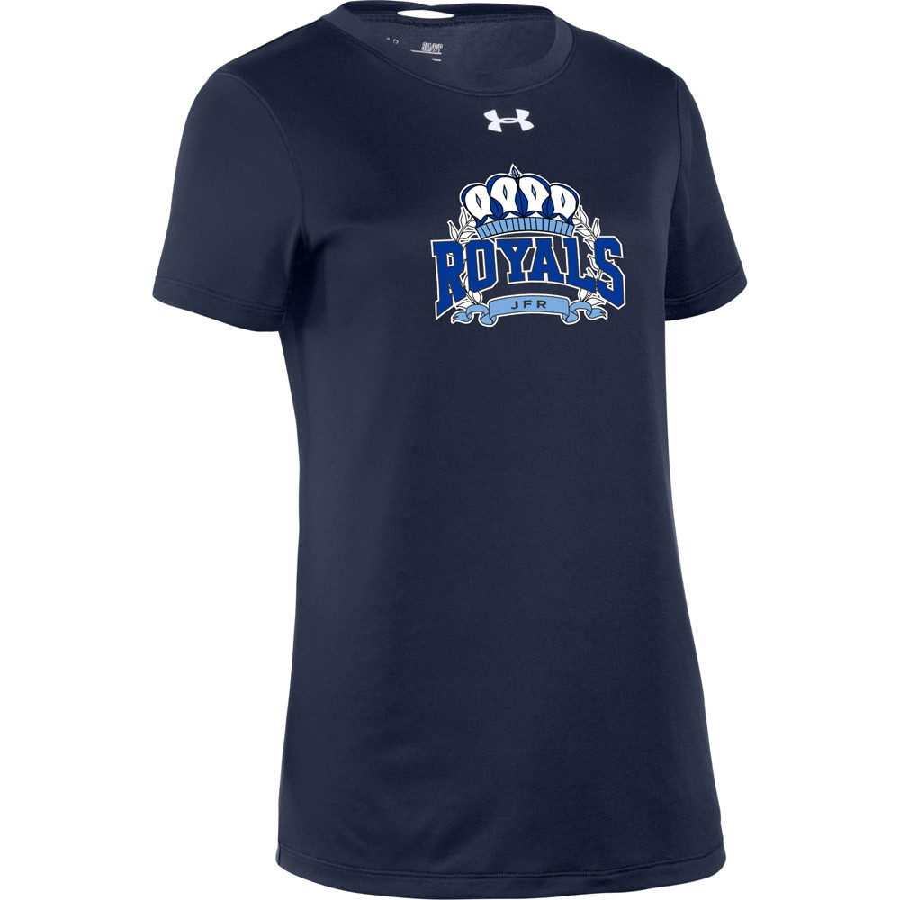 2715739bb6c7 JFR Under Armour Women's Short Sleeve Locker 2.0 Tee with Royals Crown Logo  - Navy - SchoolWear.ca