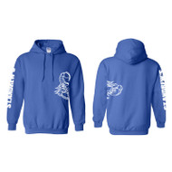 SAJ Gildan Youth Heavy Blend 50/50 Hoodie - Royal (SAJ-301-RO)