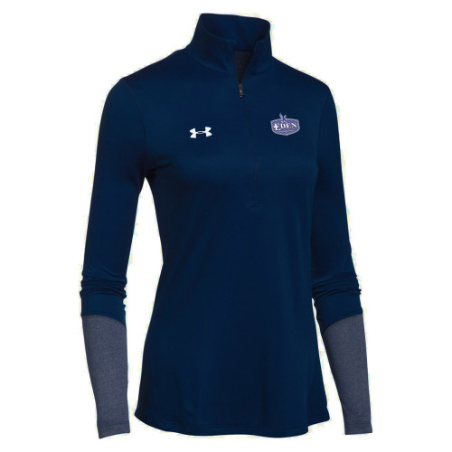 EDN Under Armour Women's Locker 1/2 Zip Jacket - Navy (EDN-204-NY)