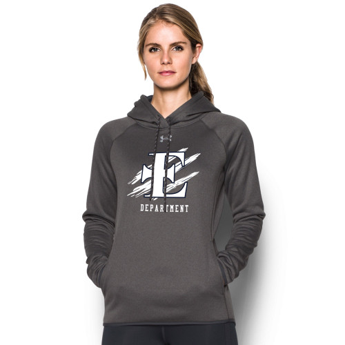 EDN Under Armour Women's Staff Double Threat Fleece Hoody - Carbon (EDN-206-CB)