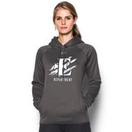 EDN Under Armour Women's Staff Double Threat Fleece Hoody - Carbon (EDN-206-CB)