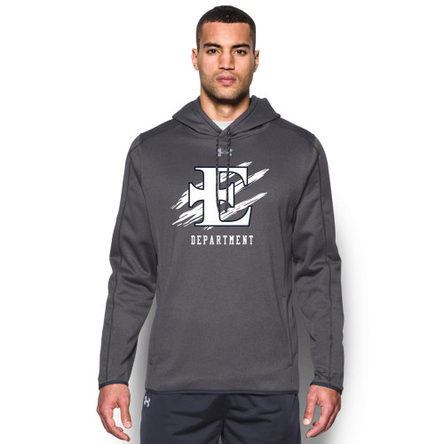 EDN Under Armour Men's Staff Double Threat Fleece Hoody - Carbon (EDN-106-CB)
