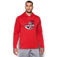 LCC Under Armour Men's Double Threat Fleece Hoody - Red (LCC-101-RE)