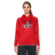 LCC Under Armour Women's Double Threat Fleece Hoody - Red (LCC-201-RE)