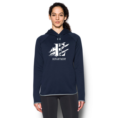 EDN Under Armour Women's Staff Double Threat Fleece Hoody - Navy (EDN-206-NY)