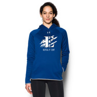 EDN Under Armour Women's Staff Double Threat Fleece Hoody - Royal (EDN-206-RO)
