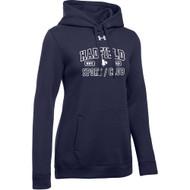 CHP Under Armour Women's Hustle Fleece Hoody - Navy (CHP-204-NY)