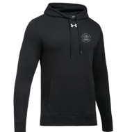 MRO Under Armour Men's Hustle Fleece Hoody with Faith-Based Logo - Black (MRO-102-BK)