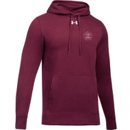 MRO Under Armour Men's Hustle Fleece Hoody with Faith-Based Logo - Maroon (MRO-102-MA)
